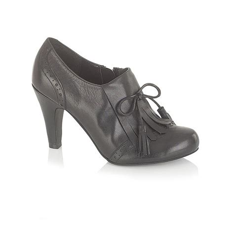 lotus sonnet black leather trouser shoe lotus from