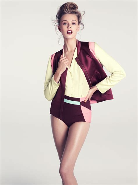 h m frida gustavsson h m summer 2012 models inspiration