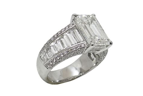 5 01 carat emerald cut platinum ring world s best