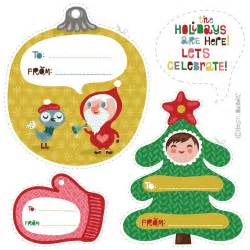 orange you lucky holiday gift tags