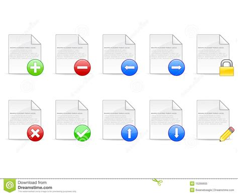convertir format eps en jpg document icons eps royalty free stock photo image 15266605