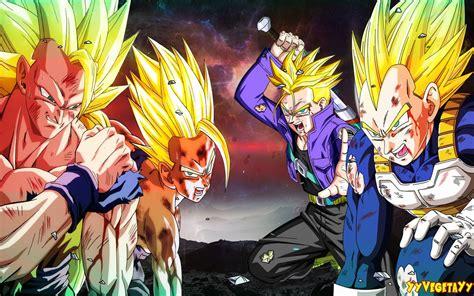 Imagenes De Goku Gohan Y Vegeta | goku vegeta trunks gohan by yyvegetayy on deviantart