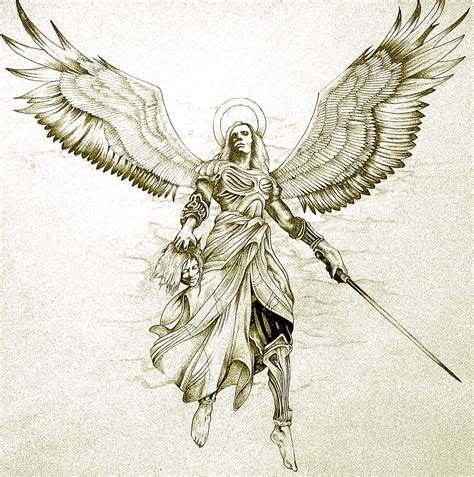 angel tattoo design by daniellehope avenging why does an all powerful god like jehovah