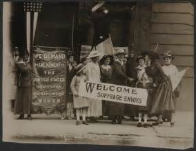 Library Of Congress Books For The Blind Suffrage Envoys From San Francisco Greeted In New Jersey