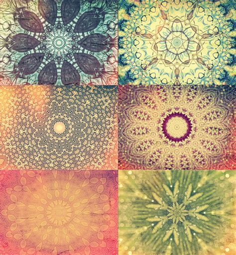 Multi Use Gift Card - set of 6 kaleidoscope multi use cards vintage the beauty of one