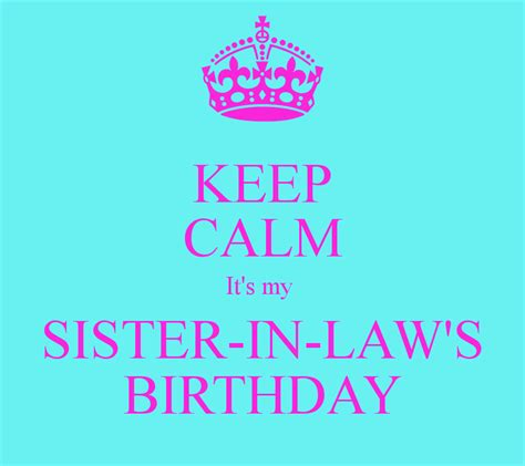in law sister in law birthday quotes quotesgram