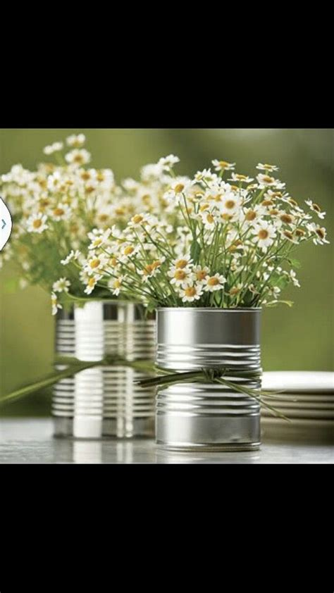 tin centerpieces tin can centerpiece upcycling and crafts