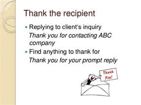 thank you letter to client for enquiry how to write emails in