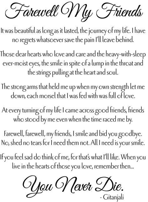tribute center farewell quotes  friends farewell