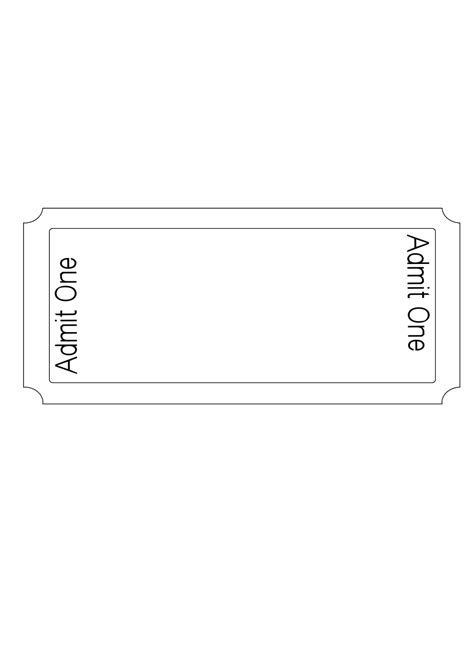 ticket templates clipart best