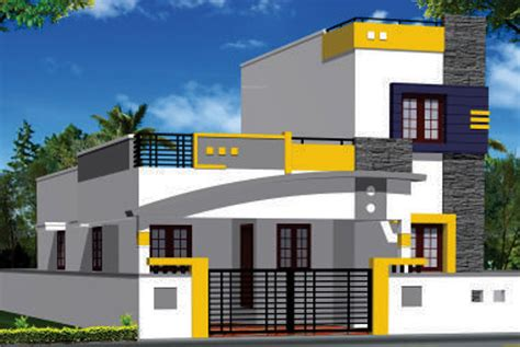 Ground Floor House Elevation Designs In Indian Jaya Enclave By Sss Shelters In Kovai Pudur Coimbatore
