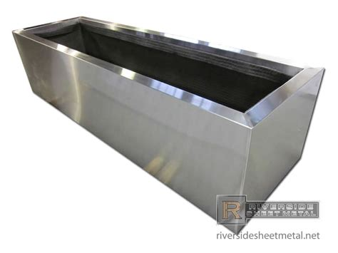 stainless steel planters copper planter with patina pre weathered finish