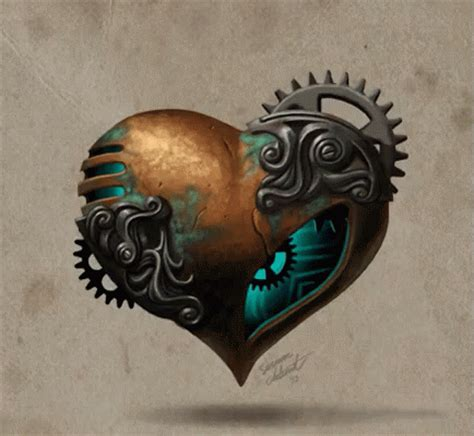 steunk heart tattoo steunk gif steunk mechanical gifs
