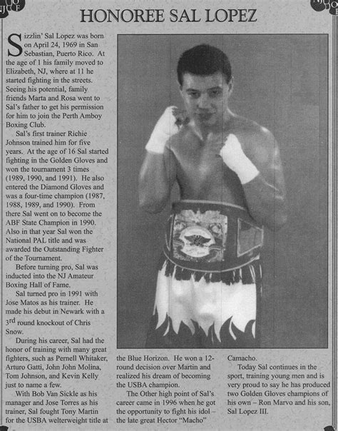 sal lopez sal lopez new jersey boxing hall of fame