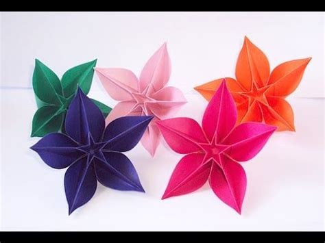 Easy Origami Paper Flowers - best 25 easy origami flower ideas on origami