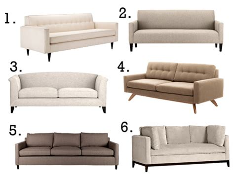 Neutral Sofa by D S Currency Kate Takes On Chic Neutral Sofas Design Sponge