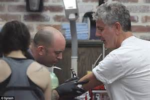 anthony bourdain tattoos anthony bourdain and his show their matching