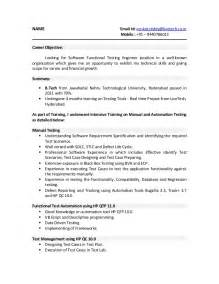 Software Test Analyst Sle Resume by Software Tester Resume Sle General Manager Assistant Sle Resume Freshers Testing Resume