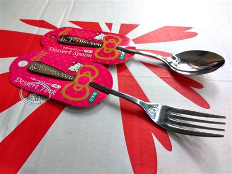 Hello Spoon japan sanrio hello spoon fork set kitchen cutlery home