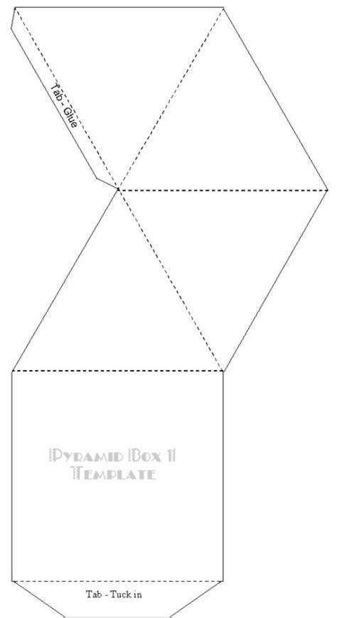 paper pyramid template 4 best images of printable pyramid template square