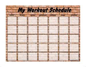 weekly workout calendar template printable weekly workout schedule template eoua