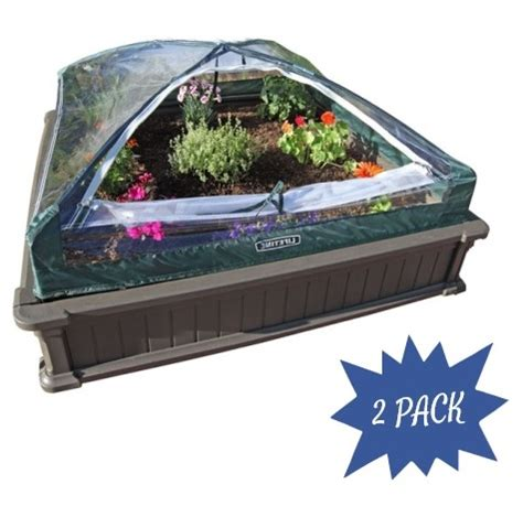 lifetime raised garden bed lifetime raised garden bed 2 pack kit with enclosure