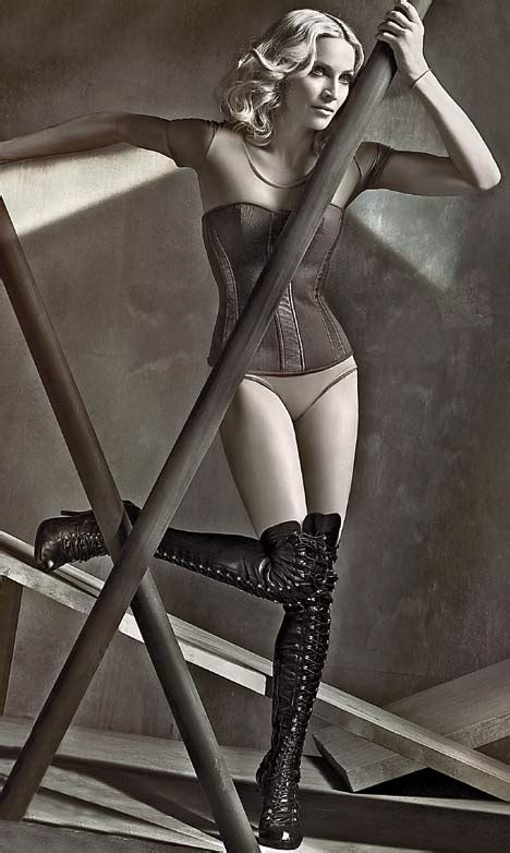 Madonna In Vanity Fair by Has The Airbrush Turned Muscles Madonna Into A Svelte