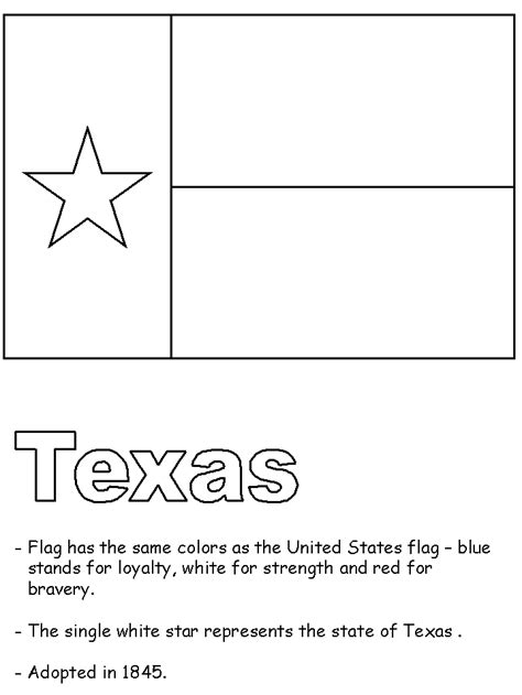 texas flag coloring page coloring home