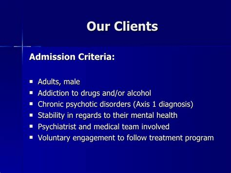 Voluntarily Admitt Themselves For Detox by Addiction Rehabilitation For Mentally Ill Chemical