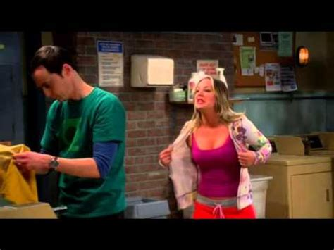 pennys fridge big ban the big bang theory hot penny in bra youtube