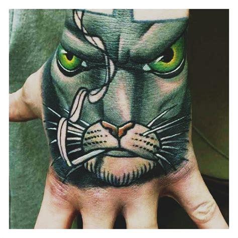 tattoo hand cat badass cat best tattoo design ideas