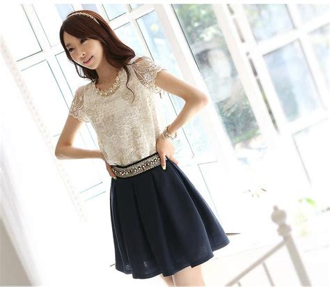Atasan Korea Original Import Ad411110 atasan wanita korea brokat cantik model terbaru jual murah import kerja