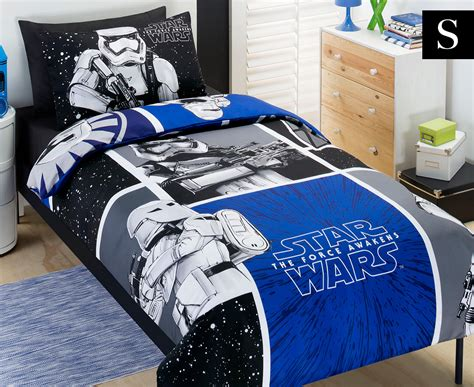 kids star wars movie storm trooper single quilt cover set