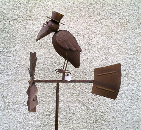 deco en fer pour jardin corbeau h 233 lice 233 olienne en metal trait 233