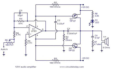 simple stereo lifier circuit diagram simple 10w audio lifier electronic circuits and
