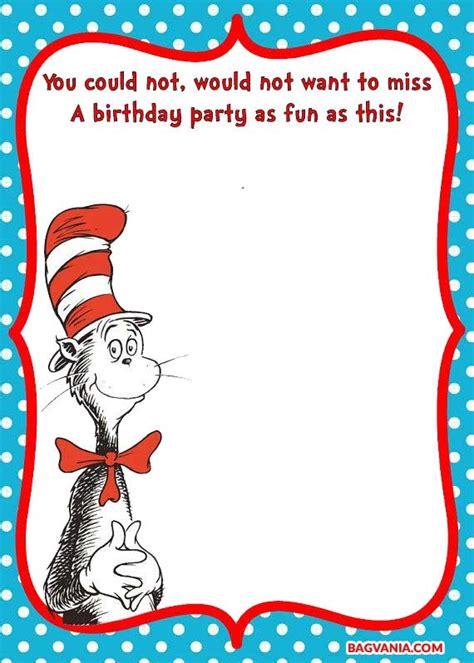 printable dr seuss birthday invitationsfree printable