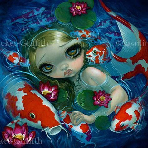 china doll 2 person banquet swimming with koi original by becket