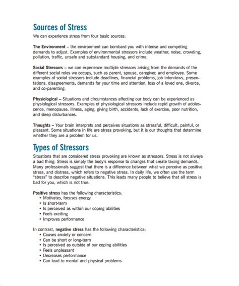 thesis of management sle stress management chart 7 documents in pdf