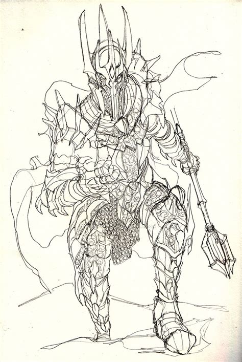 sauron sketch by witchking08 on deviantart