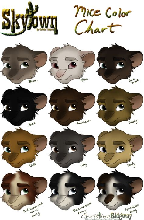 mouse colors ski s skytown mice color chart by ski machine
