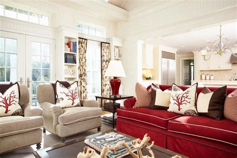 red sofa decor sublime red accent chair living room decorating ideas