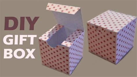 How To Make A Gift Box From Paper - how to make a gift box diy paper box