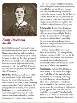 emily dickinson biography in english emily dickinson mr lopez and ms oakley s english 5 6 class