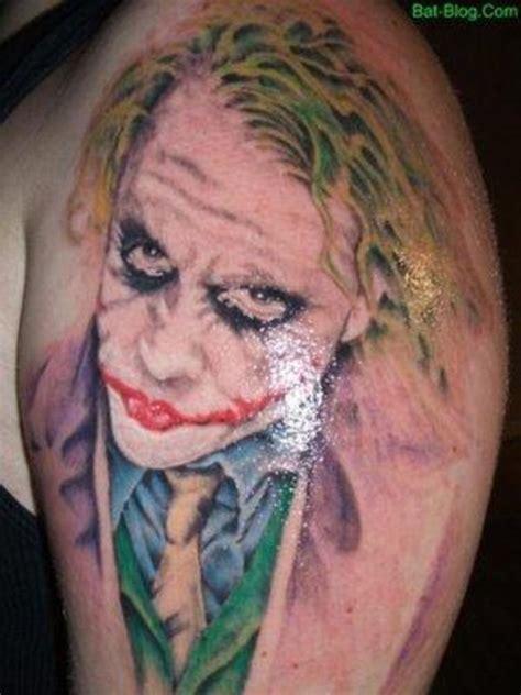tattoo joker chest colorful joker tattoo on man chest