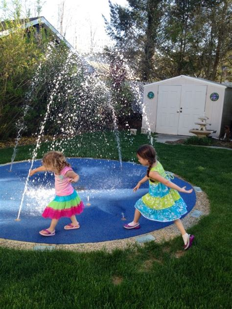 residential splash pad for your backyard