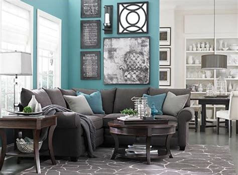 Turquoise Living Room Furniture Turquoise And Gray Living Room Design Interiors Pinterest