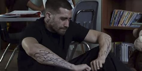 southpaw tattoo jake gyllenhaal s been hitting the