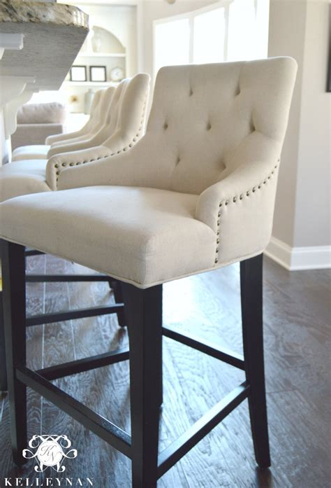 Linen Nailhead Bar Stools by Kelley Nan S Home Furniture Top Inquiries