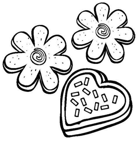 sugar cookies coloring page kids coloring pages