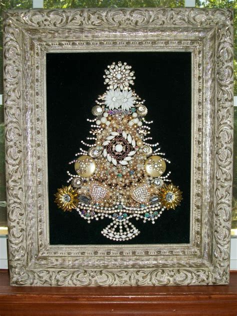 vintage jewelry christmas tree art vintage jewelry